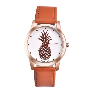 Women-Quartz-font-b-Pineapple-b-font-Faux-Leather-Watch-Band-Analog-Quartz-Luxury-Ladies-Watch