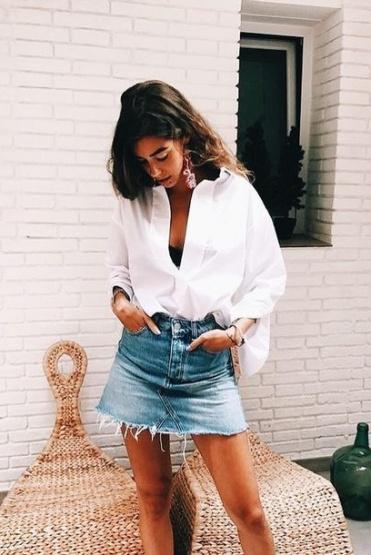 Camisa Branca e Jeans